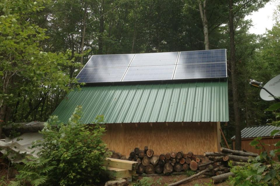 Off Grid In The Degrasse Woods Solar And Generator