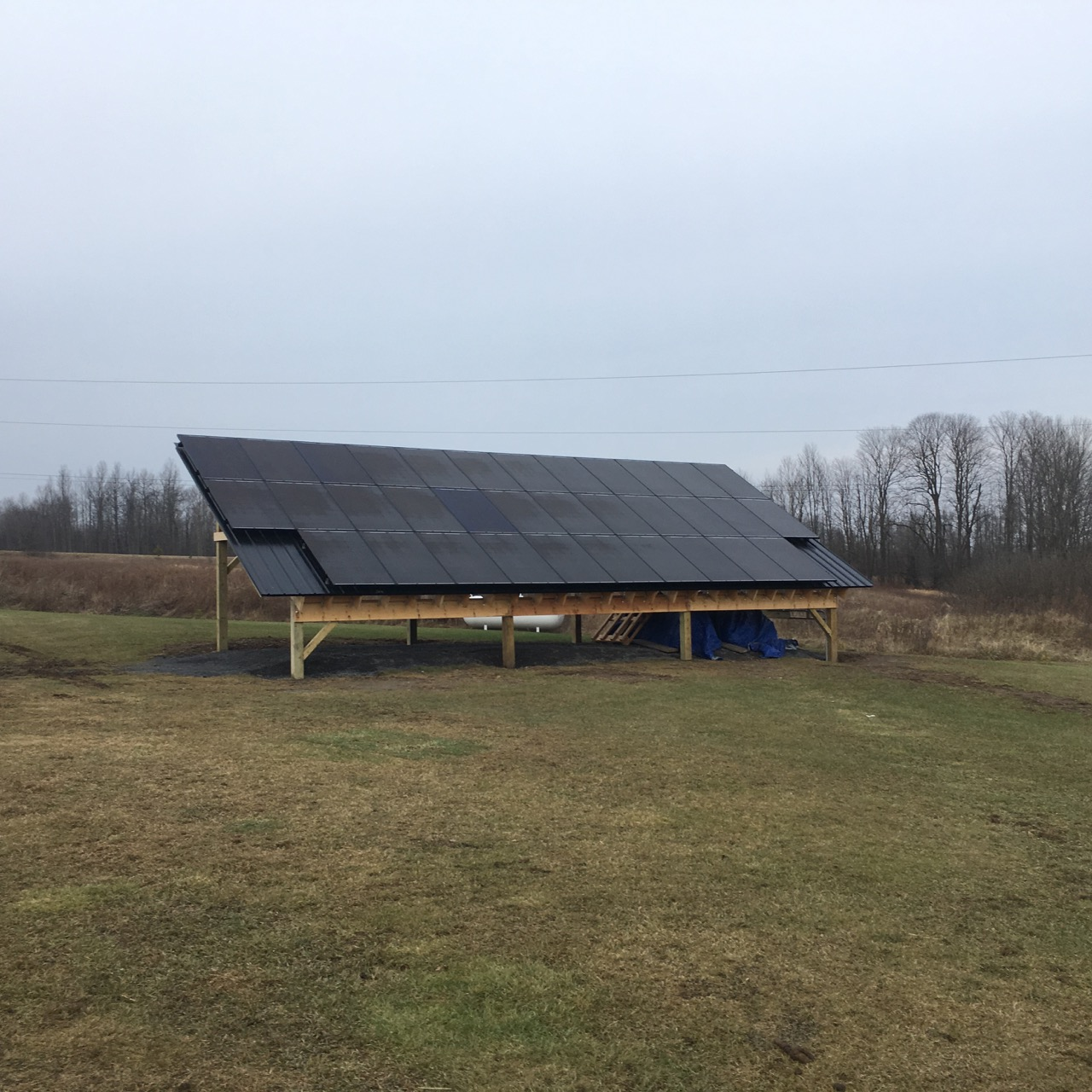 Solar ground mount shed